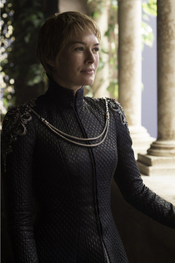 Forget mourning clothes: Cersei's new style is POWER.