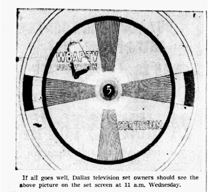 1948: An image of what to expect during initial tests of television in DFW.