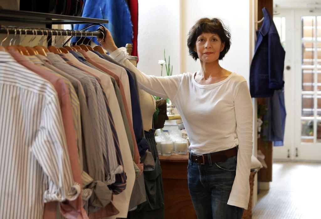 Robin Cook in her women's apparel studio, SoHo McKinney
