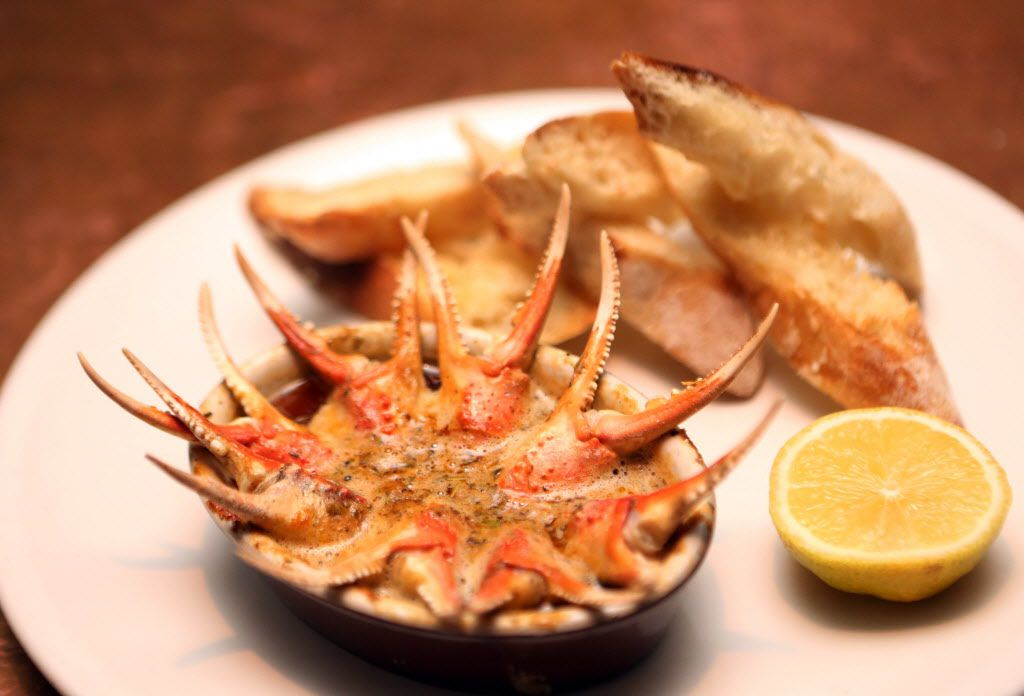 Crab claws form Fireside Pies in Dallas.
