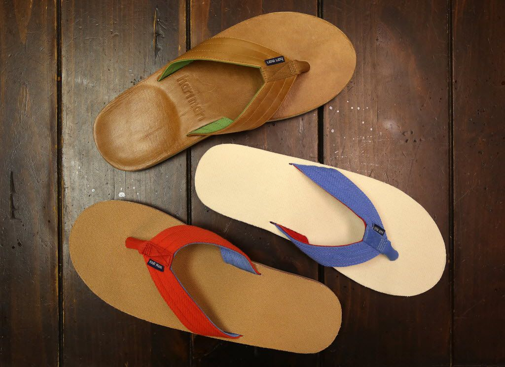 Hari Mari offers a variety of flip-flop styles, including from top to bottom: Lakes, Parks and Scouts.