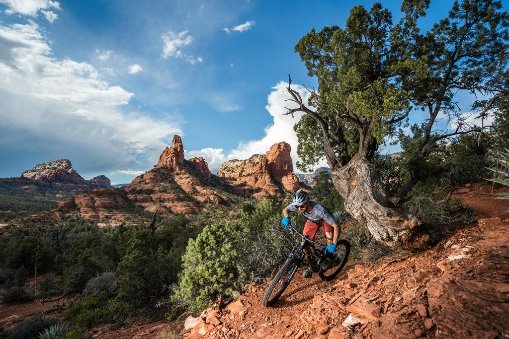 The startling scenery of Sedona, Ariz., makes it a great place to hit the trail — whether on bike, on horseback or on foot.