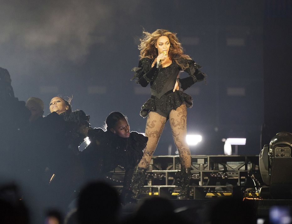 Fierce: That was Beyonce on Monday night in Arlington. This photo is from her May 1 appearance at the Georgia Dome in Atlanta.