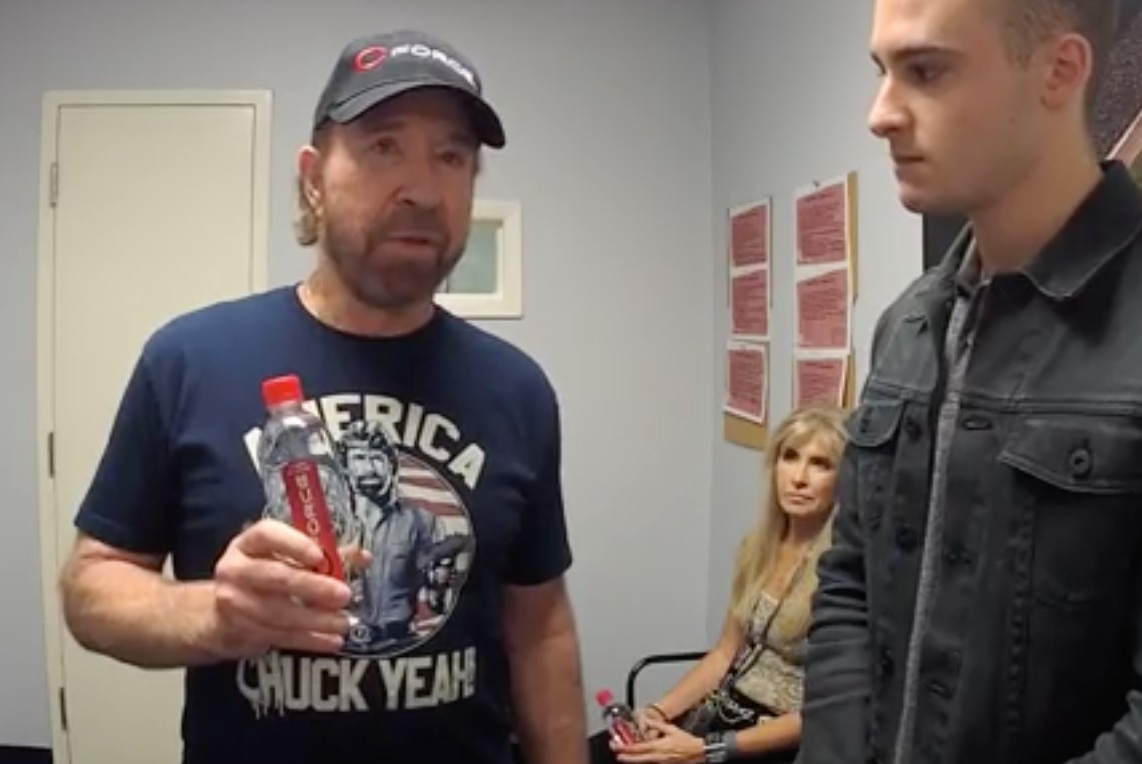 See Chuck Norris talk to GuideLive at Texas Motor Speedway in Fort Worth.