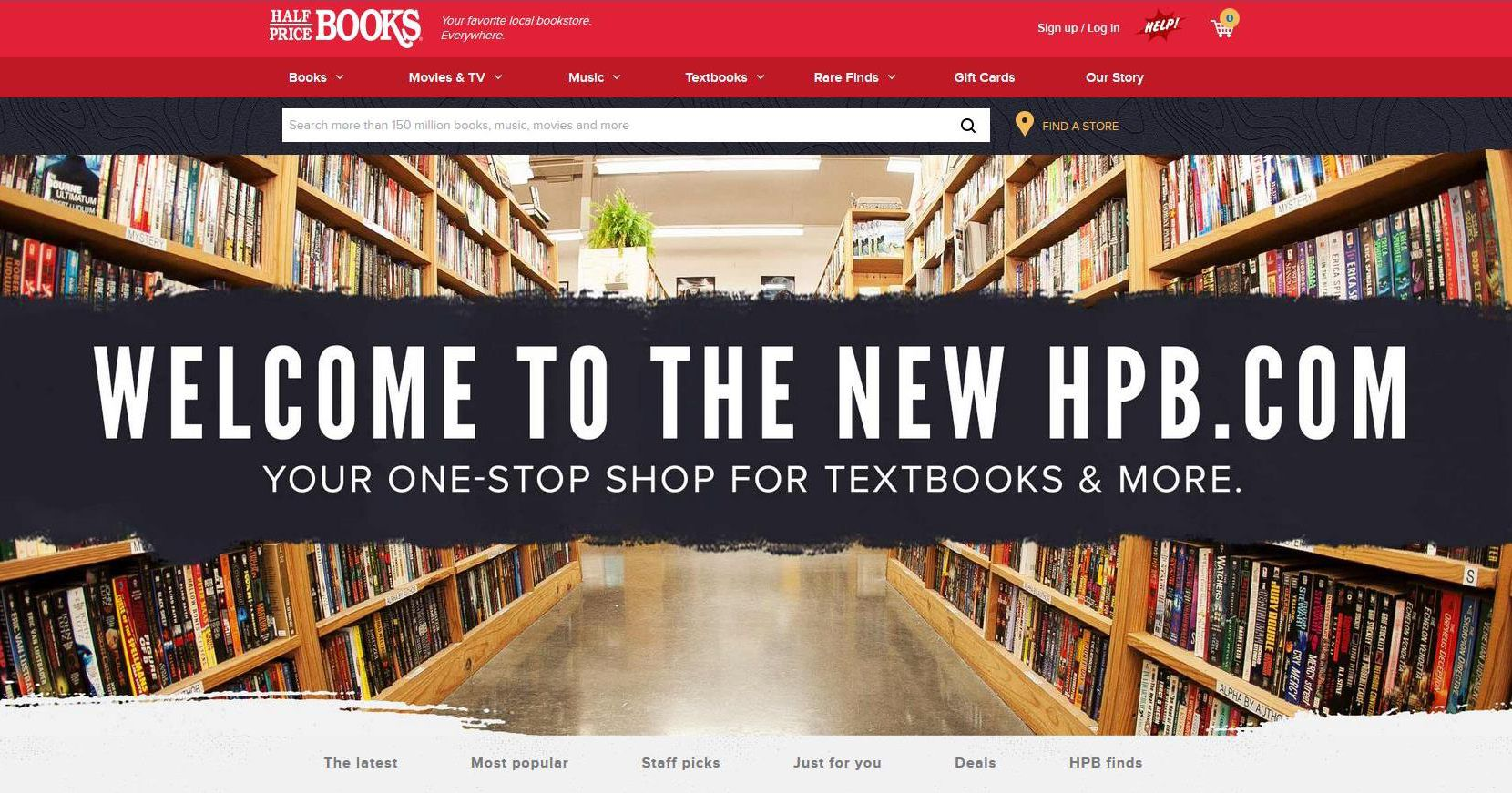 A screen grab of the new Half Price Books website that finally lets customers search for a book online and find out which store stocks it. In the future, the plan is for you to be able to search the inventory of only your neighborhood Half Price Book store. The Dallas-based company is still opening stores. It has 122 stores in 17 states.
