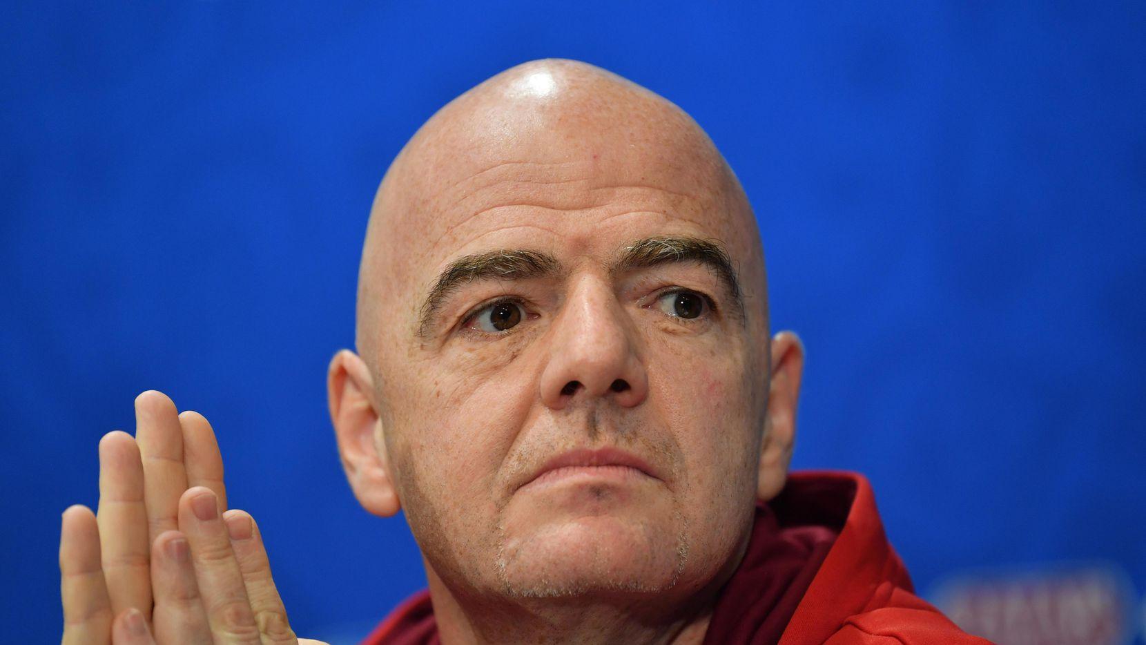 Gianni  Infantino de la FIFA se niega a que la liga española lleve juegos a Estados Unidos. (Getty Images/Dan Mullan)