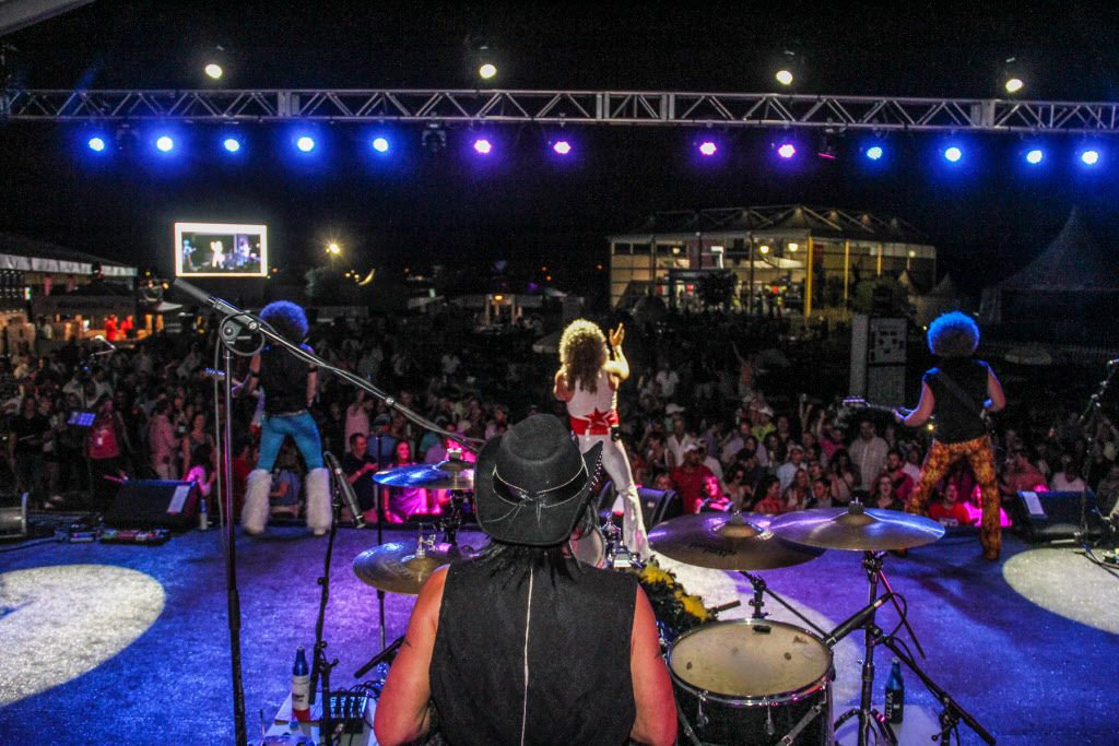 Disco Cover Band Le Freak provided the entertainment for the after party at the AT&T Byron Nelson golf tournament  after play was finished on Saturday.