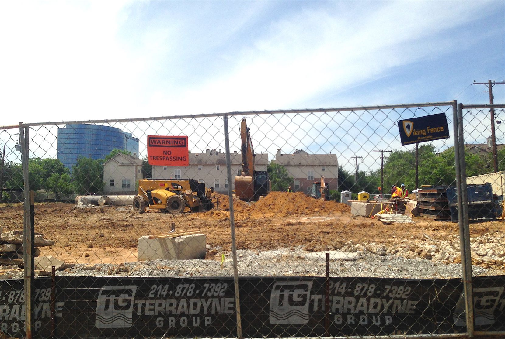 Construction has started on the project on Congress Avenue near Oak Lawn.
