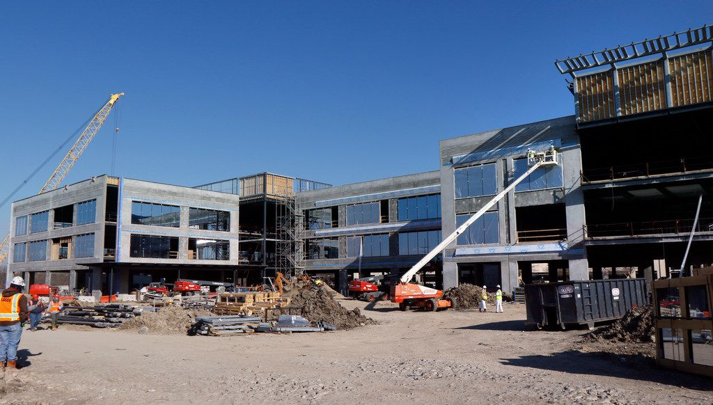 One Bethany is a 125,000-square foot office building with structured parking under construction on March 14 in the city of Allen.  The Allen EDC, Boss Fight Entertainment and Verado Energy have announced that they will be occupying the building.