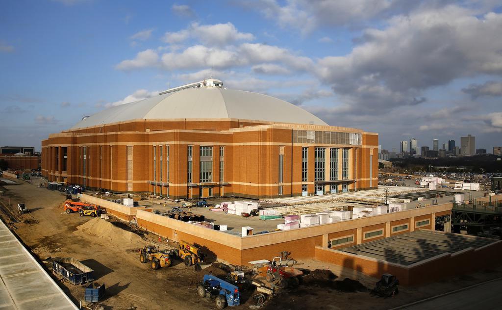 Dickies Arena, el nuevo escenario de conciertos y deportes en vivo, que será inaugurado este otoño en Fort Worth. (DMN/TOM FOX)