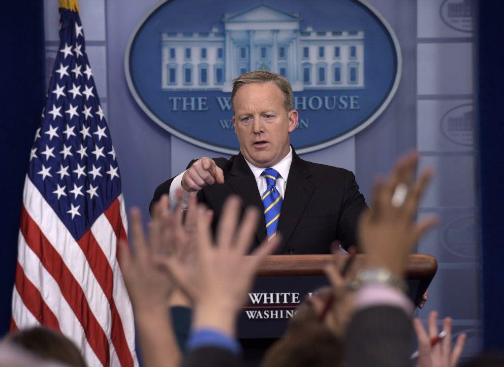 El secretario de prensa de la Casa Blanca Sean Spicer. / AP