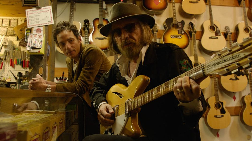 Jakob Dylan and Tom Petty in the movie Echo in the Canyon.