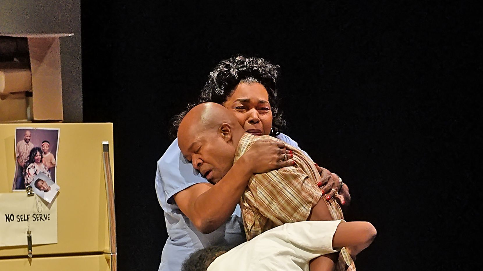 Laura Mae (LIz Mikel), her husband Dubba-J (Leon Addison Brown) and their son Jon-Jon (Esau Price) come together in the aftermath of all the action of Dallas playwright Jonathan Norton's Penny Candy.
