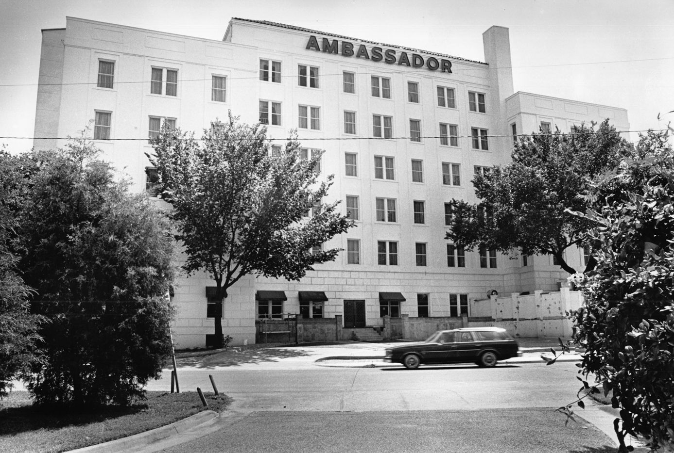 The Ambassador Hotel, seen in July 1983.