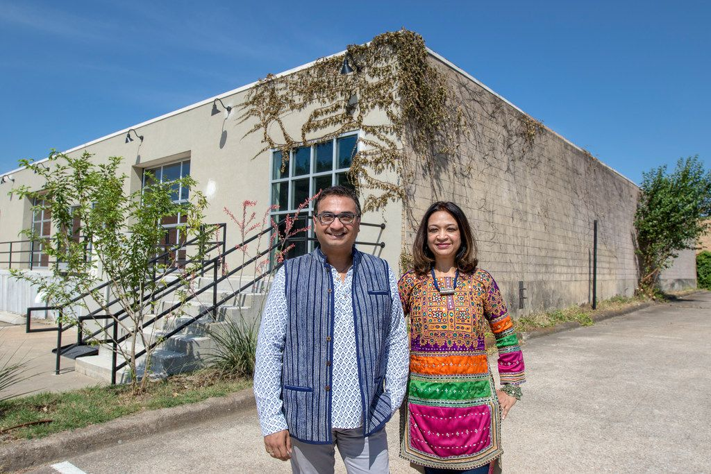 "Jitin Hingorani (left) and Anu Basu Agarwal, co-founders of Dallas Indian Arts Collective, plan to rent out the collective's Design District building for events. ""This event space is going to be a home for all the artist we bring in from India,"" Hingorani said."
