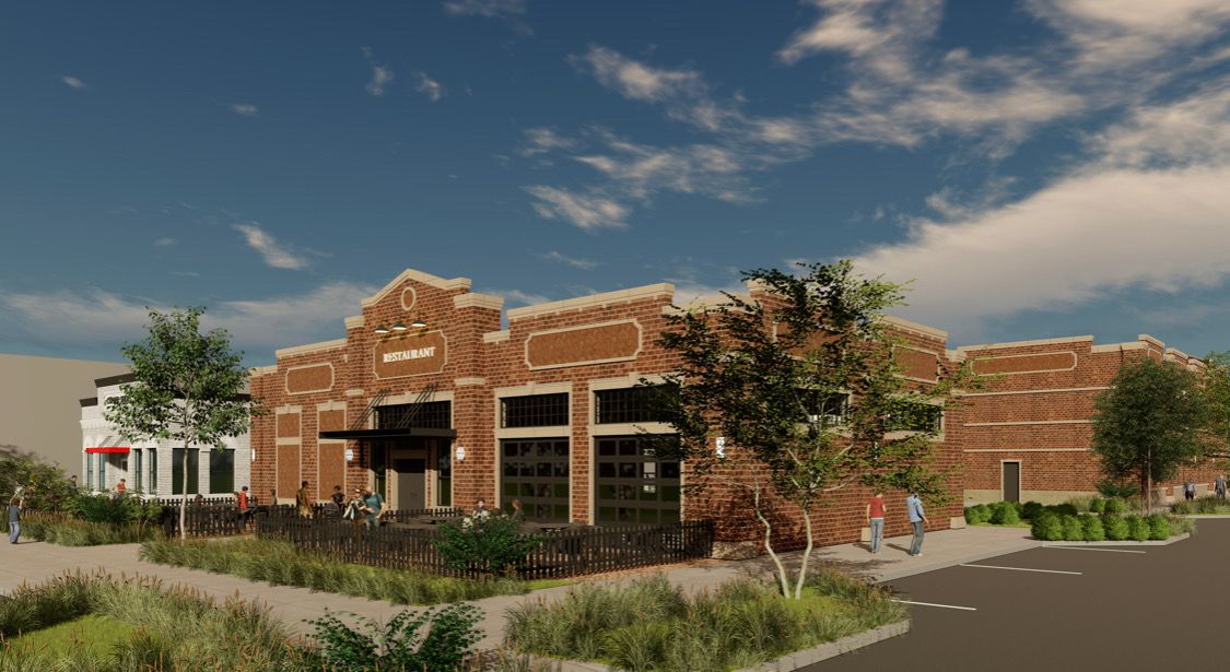 Nack Development plans to build three small office and retail buildings in Lewisville's old downtown district.