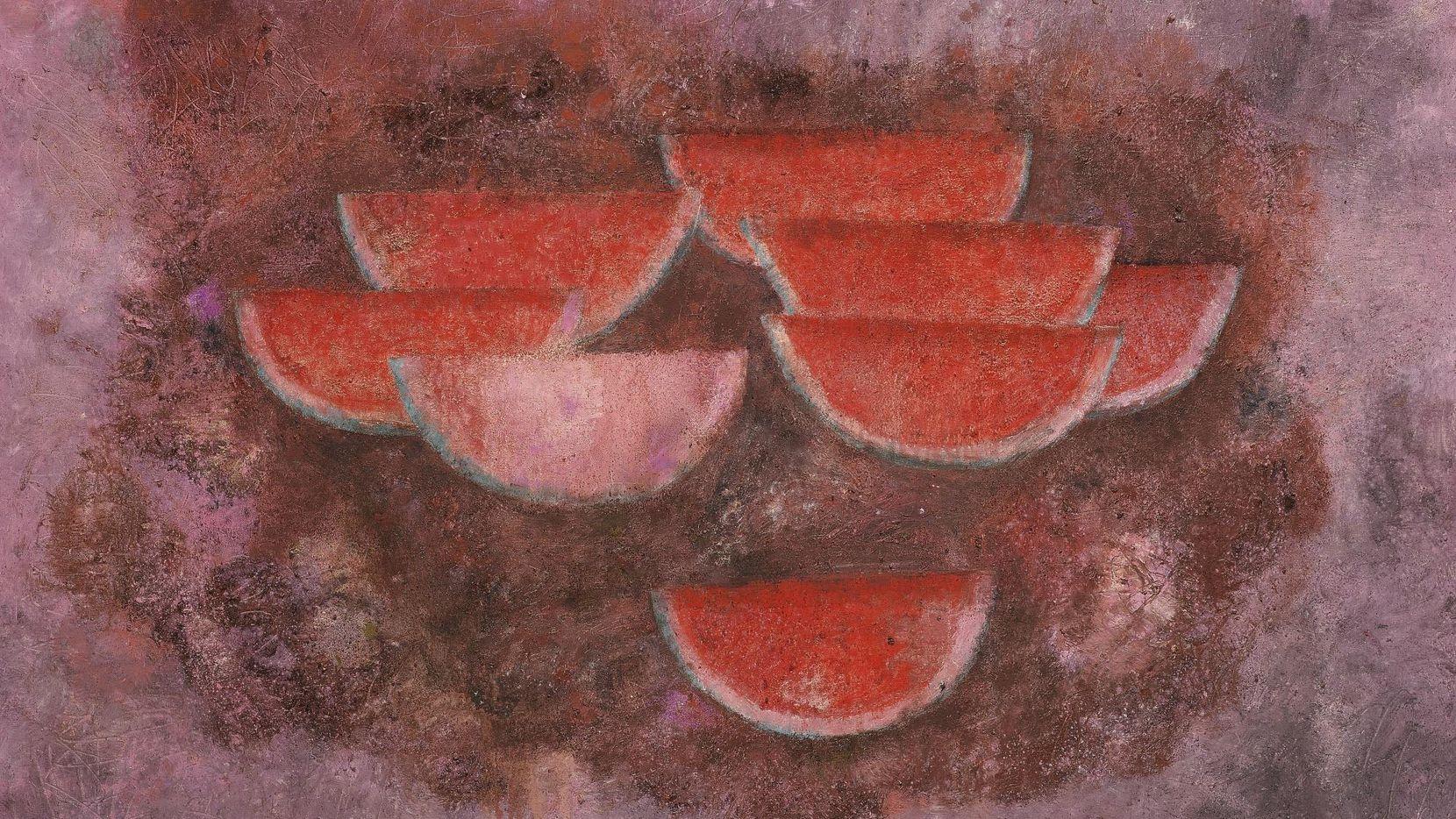 La pintura 'Sandias' de Rufino Tamayo se subastó en Nueva York.(AP)