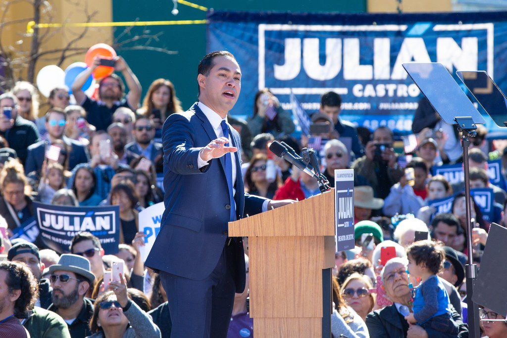 Former United States Secretary of Housing and Urban Development Julian Castro announced his candidacy for president in his hometown of San Antonio on Jan. 12, 2019.