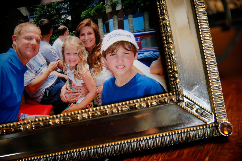 In this 2014 photo taken along the San Antonio Riverwalk, Cathy and Mark Speed are pictured with daughter Caitlin and son Braden.