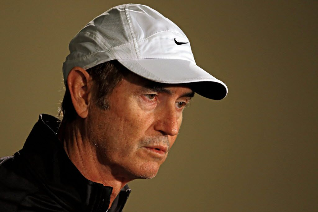 Baylor head coach Art Briles discusses with the media the Bears' snub following the College Football Playoff championship selection announcement Sunday, December 7, 2014 in Waco, Texas. (G.J. McCarthy/The Dallas Morning News)