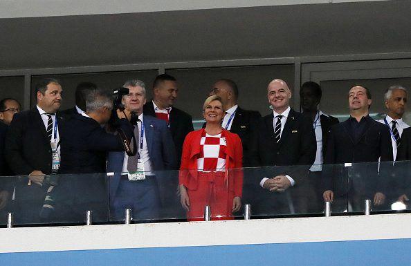 Aquí con el presidente de FIFA, Gianni Infantino