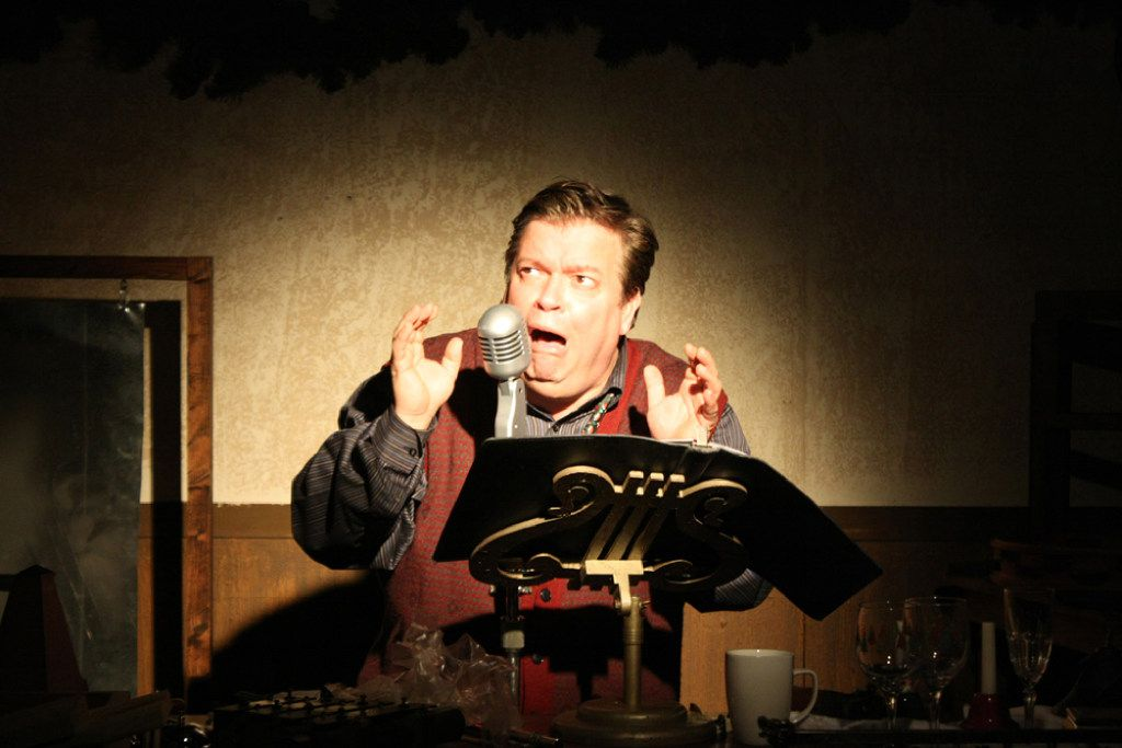 B.J. Cleveland stars in A Christmas Carol: The Radio Show, a one-man show where he plays multiple roles. Theatre Three presents the show in its downstairs Theatre Too space Nov. 25-Dec. 11, 2016.