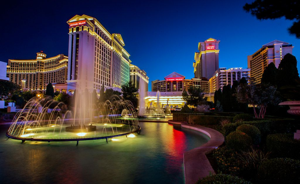 This Sunday, June 23, 2019, photo shows Caesars Palace in Las Vegas. A casino juggernaut was formed Monday, June 24 when Eldorado Resorts announced it is buying Caesars in a cash-and-stock deal valued at $17.3 billion. (L.E. Baskow/Las Vegas Review-Journal via AP)