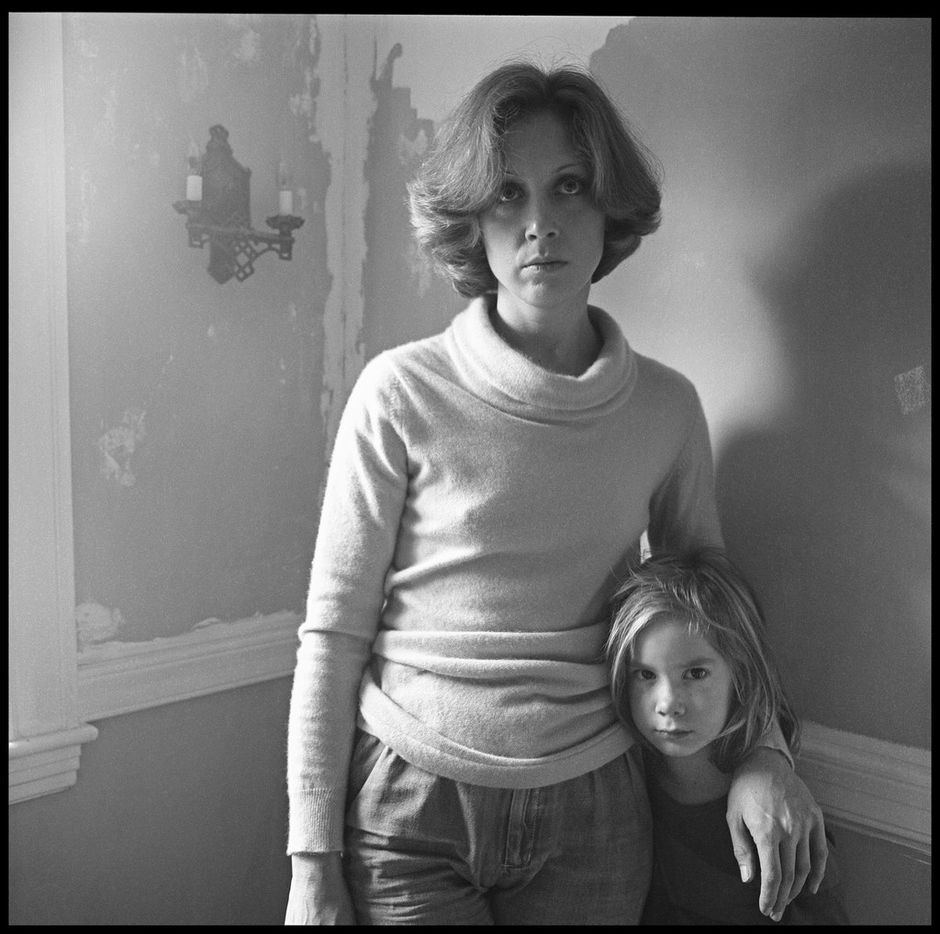 Black-and-white photos by Paul Black of his wife, Carol. Now, for the first time, his decades of photographs of Carol documenting their lives together is the subject of a new exhibition at Barry Whistler Gallery. This one shows Carol with the couple's daughter, Cassandra.