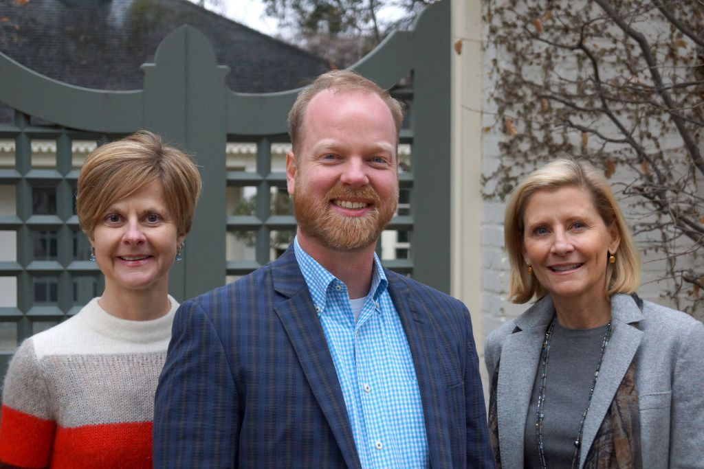 From left to right: Lori Feathers, Jeremy Ellis and Nancy Perot of Interabang Books in 2017.