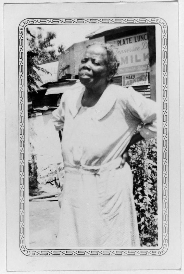 Mary Ellen Johnson, shown in Dallas in 1937 or 1938 when she ran a restaurant, was born a slave in San Marcos.