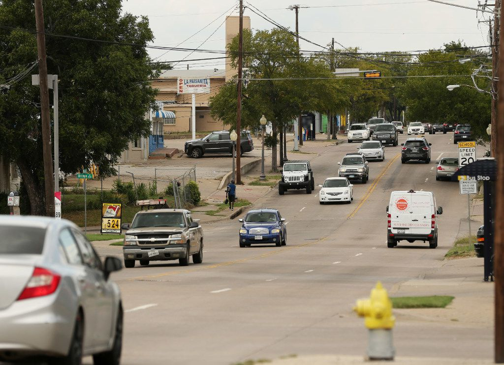 View of the area between Wycliff Avenue and Lucas Drive on the west side of Maple Avenue in Dallas Wednesday August 9, 2017.(Andy Jacobsohn/The Dallas Morning News)