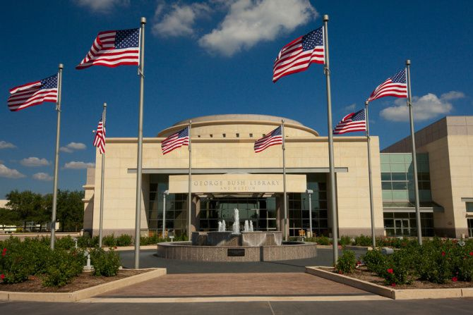The George Bush Presidential Library and Museum  in College Station opened in 1997