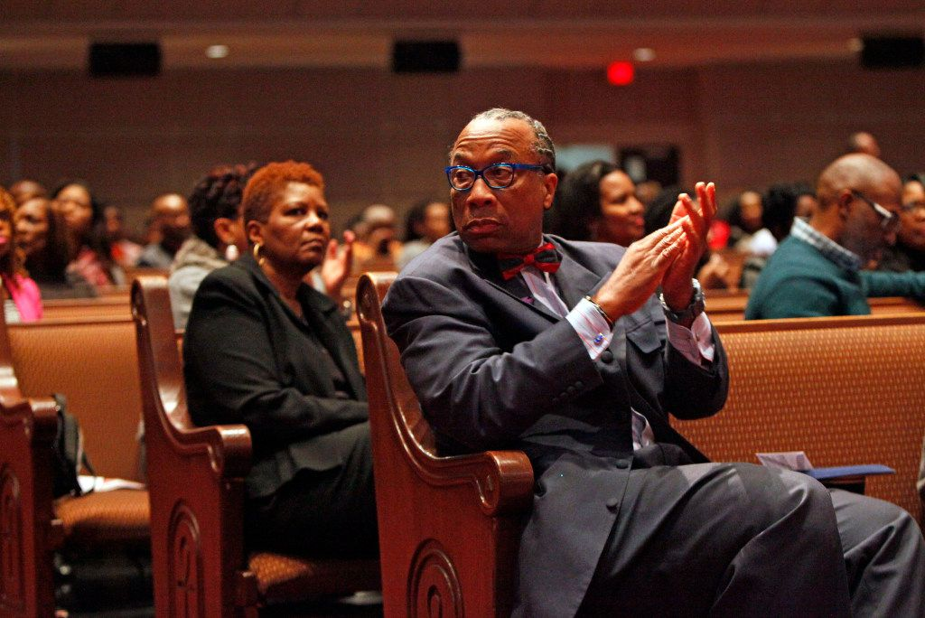 Dallas County Commissioner John Wiley Price during a Sunday service at Friendship-West Church in South Dallas, Feb. 26, 2017. Ben Torres/Special Contributor