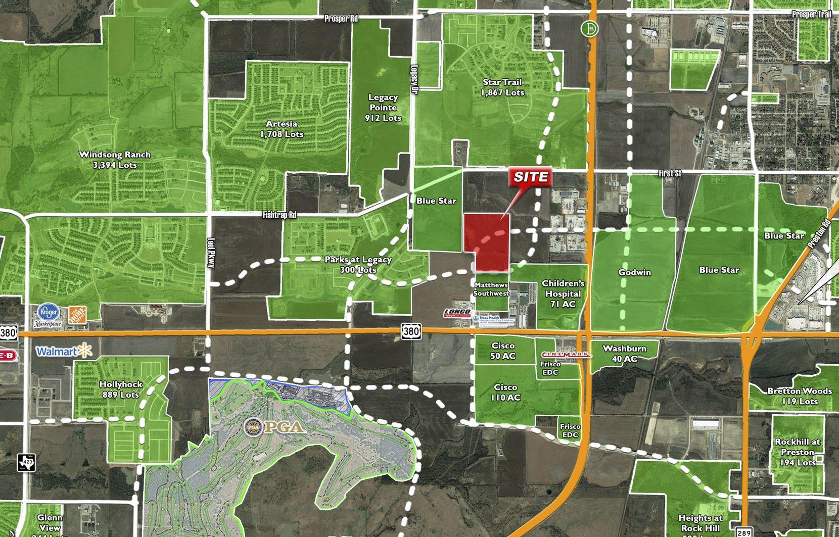 Standridge Cos.' purchase is near U.S. Highway 380 in Prosper.