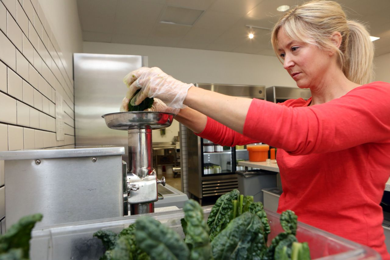 Heidi Lane, chef at the Juice Bar on Inwood Road, says that juices are an easy way to boost nutrition.
