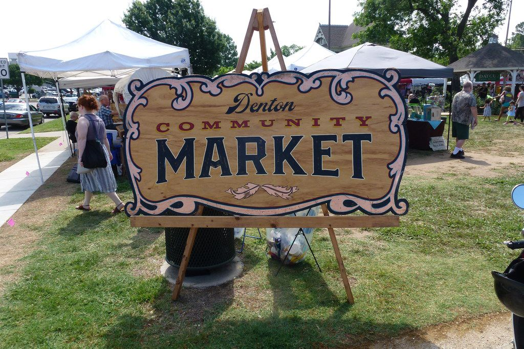 Welcome to the Denton Community Market at Mulberry and Carroll.