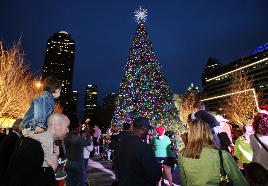 The Klyde Warren Park Christmas tree adds some sparkle to downtown Dallas.