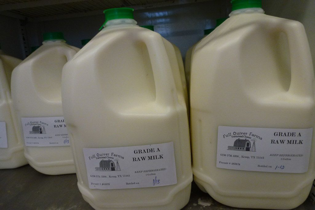 Raw milk from Full Quiver Farms in Kemp.