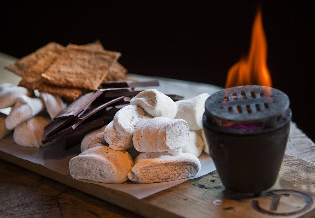 Tableside s'mores is on the Valentine's Day menu at Tillman's Roadhouse in Dallas.