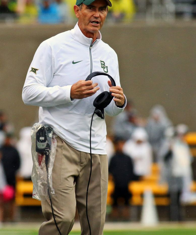 Baylor coach Art Briles was questioned Tuesday on the Big 12 coaches teleconference about recent sexual assault allegations involving his football program and the school's response.