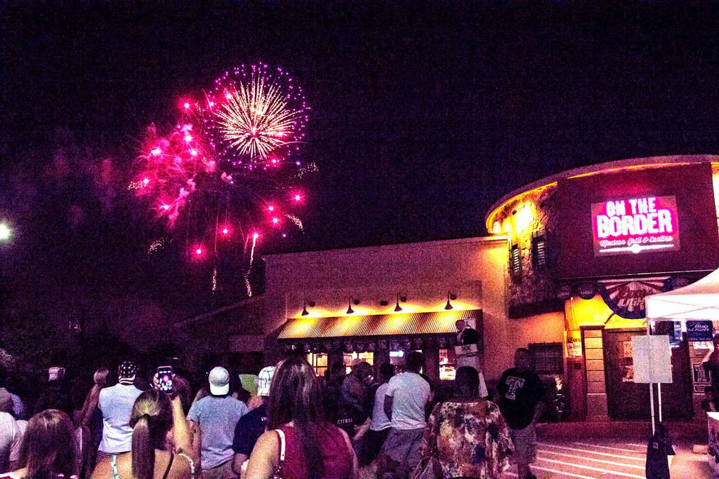 On the Border parking lot provided  great view of the fireworks and drew a large crowd at Kaboom Town in Addison.