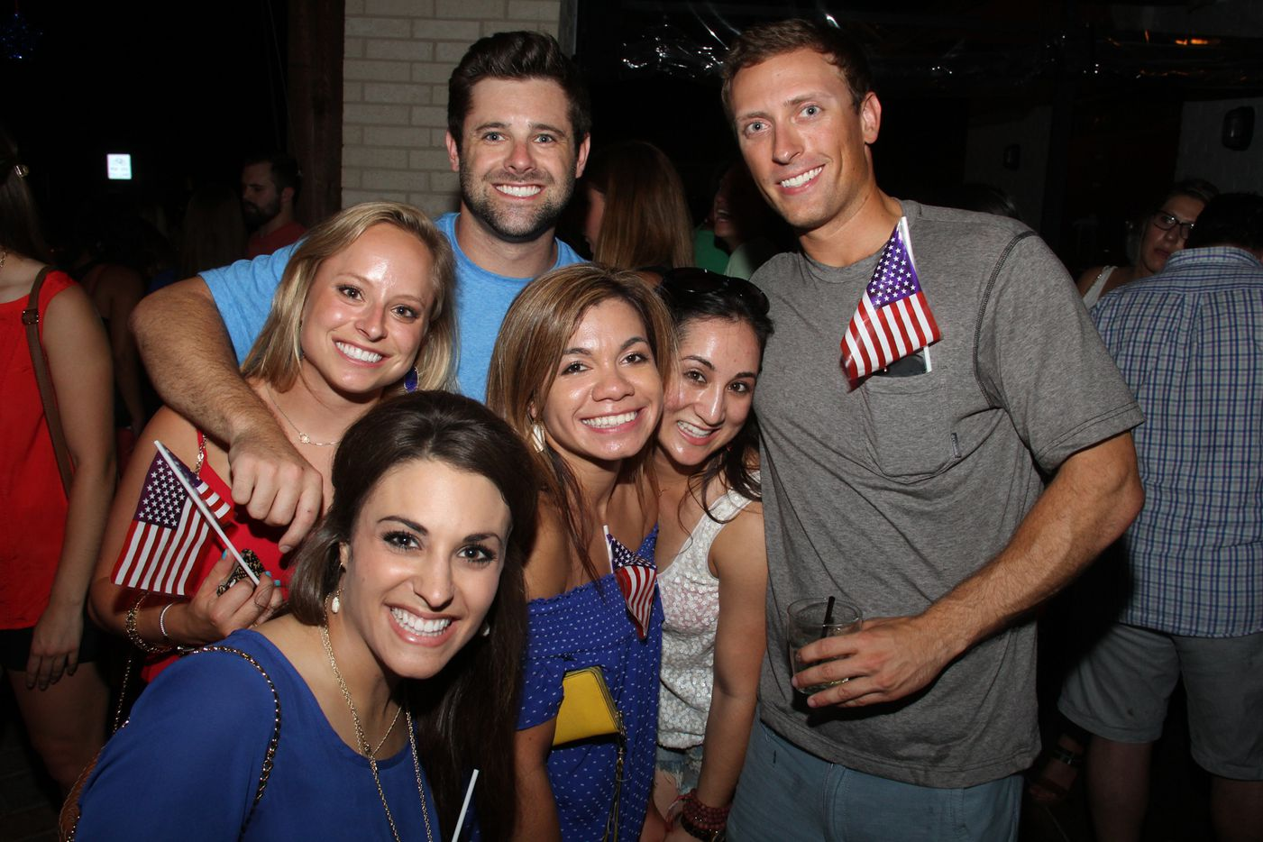 Revelers gathered at High Fives on Henderson Avenue as part of a three-bar block party on July 3 in Dallas.