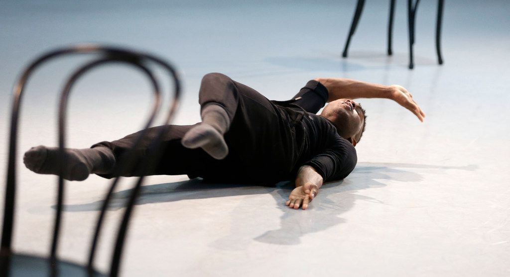 Terrell Rogers of DBDT: Encore! rehearses My'Kal Stromile's Mirror of the Effigy.