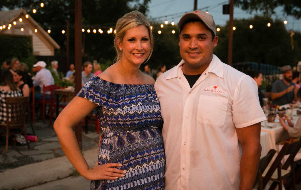 Chef Juan Rodriguez and his wife Paige host the supper club dinner at Magdalena's in Fort Worth.