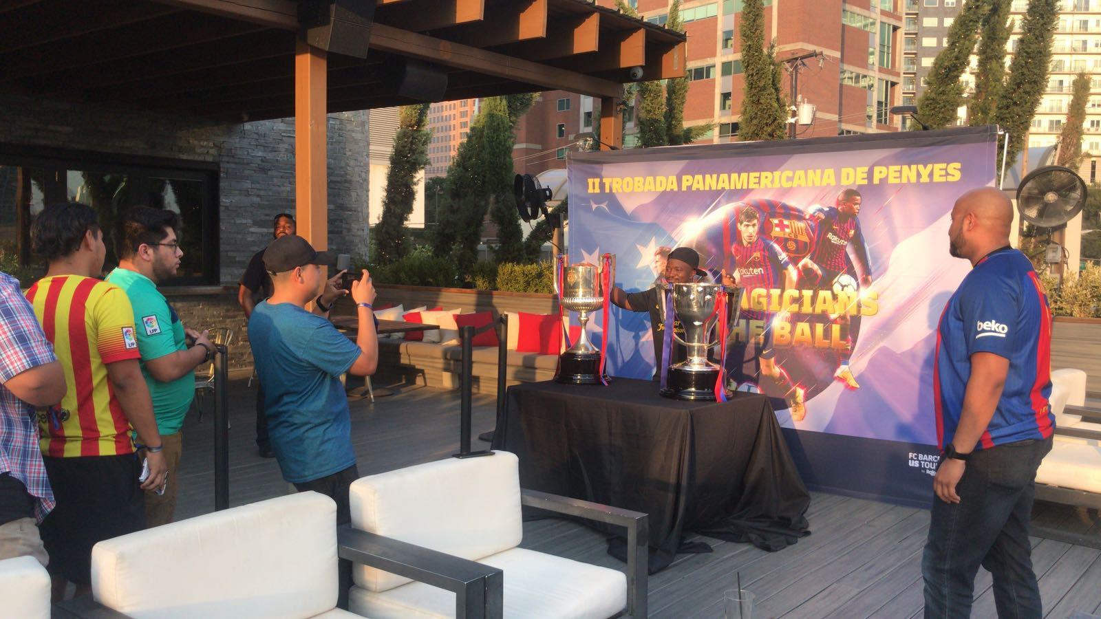 Evento de la Peña Barça en Happiest Hour, el domingo en Dallas. Foto de Walter Roque para Al Día