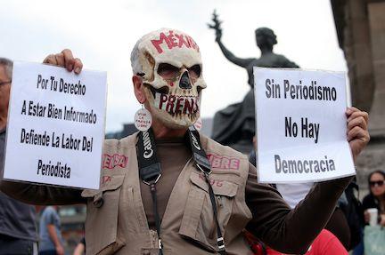 La organización Periodistas Sin Fronteras acusa impunidad en casos de desaparición de periodistas en México. AGENCIA REFORMA