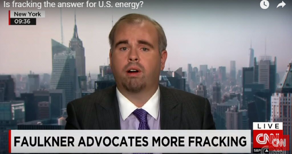Christopher Faulkner was invited often to appear on TV as an oil and gas expert.
