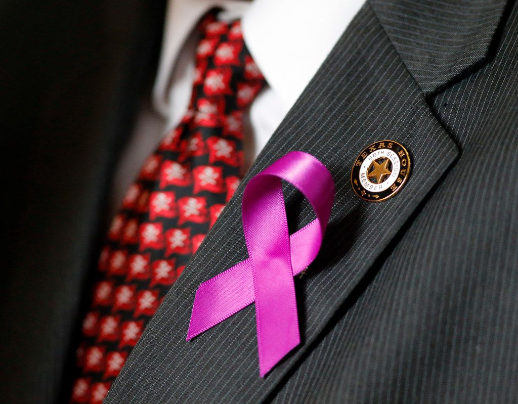 """Purple ribbons honoring Linda """"Michellita"""" Rogers, were distributed to members of the Texas House of Representatives on Feb. 27, when Rep. Rafael Anchia, D-Dallas, introduced a resolution honoring the 12-year-old who died in February 2018 in a natural gas explosion in her Dallas home."""