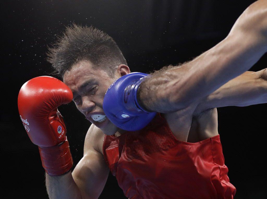 Misael Rodríguez cayó en semifinales de boxeo, peso medio en Rio. Foto AP
