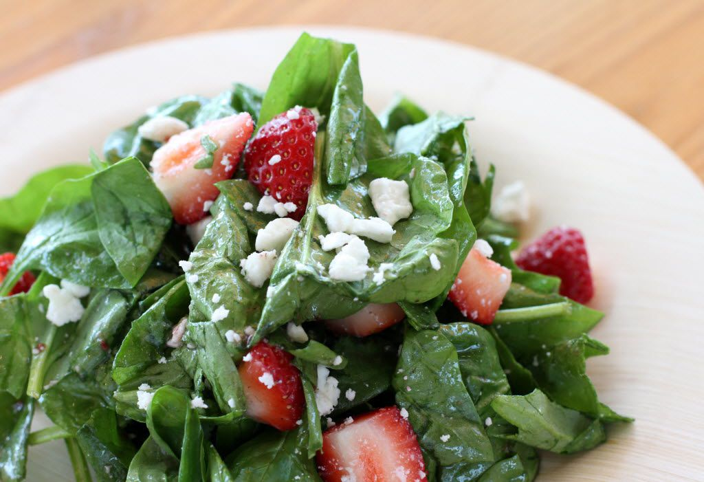 Spinach and Goat Cheese salad is shown at Start Restaurant, in Dallas, Texas, on Wednesday, September 19, 2012. (Allison Slomowitz/ Special Contributor) 09282012xGUIDE